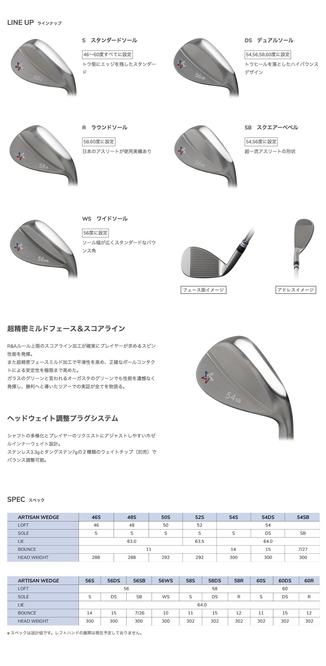FireShot Capture 129 - インフィニットゴルフオンラインストア - ARTISAN WEDGE Series - shop.infinitegolf.jp